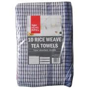 Kitchen King Rice Weave Tea Towels 10s (712.10TD1)