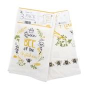 Kitchen Towels Queen Bee 3pk (KTS185298)