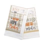 Star Baker Design Tea Towel 3pk (KTS197055)