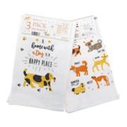 3pk Dogs Tea Towels (KTS200885)