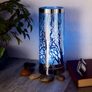 Colour Changing Wax Warmer Silver Tree (L-7440WH)