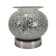 Silver Round Mosaic Burner (L-7461SIL)