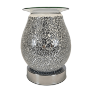 Silver Egg Shape Mosaic Burner (L-7462SIL)