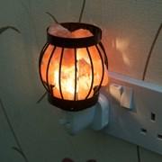 Metal Basket Plug In Salt Lamp 13cm (L-7772)