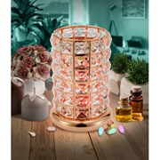 Clear-rose Gold Crystal Led Lamp (L-8403CL)