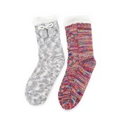 Totes Isotoner Ladies Cable Knit Socks Asstd (3373A)