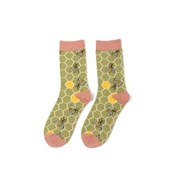 Miss Sparrow Bee Hive Socks Olive (SKS221OLIVE)