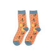Miss Sparrow Bee Hive Socks Orange (SKS221ORANGE)