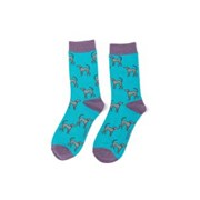 Miss Sparrow Greyhounds Socks Turquoise (SKS226TURQUOISE)