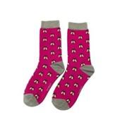 Miss Sparrow Honey Bee Socks Hot Pink (SKS198HOTPINK)