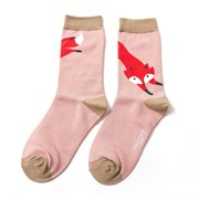 Miss Sparrow Fox Socks Dusky Pink (SKS179DUSKYPINK)