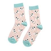 Miss Sparrow Little Dalmatians Socks Dusky Pink (SKS190DUSKYPINK)