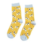 Miss Sparrow Little Dalmatians Socks Yellow (SKS190YELLOW)