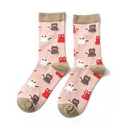 Miss Sparrow Little Kitties Socks Dusky Pink (SKS173DUSKYPINK)