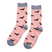Miss Sparrow Little Sausage Dogs Socks Dusky Pink (SKS195DUSKYPINK)
