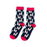 Miss Sparrow Llamas Socks Navy (SKS206NAVY)