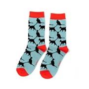 Miss Sparrow Lucky Cat Socks Powder Blue (SKS208POWDER BLUE)