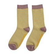 Miss Sparrow Mini Stripes Socks Olive & Yellow (SKS201OLIVE&YELLOW)