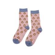 Miss Sparrow Owls Socks Dusky Pink (SKS203DUSKYPINKK)