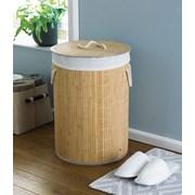Bamboo Round Laundry Basket Natural (LAU192111)