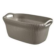 Curver Knit Laundry Basket Harvest Brown 40ltr (228408)