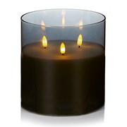 Premier Flickabright Triple Flame In Grey Glass 15cm (LB213085GY)