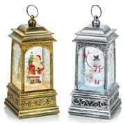 Premier Glitter Spin Lanterns Santa/snowman 21cm (LB213305P)
