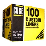 Le Cube Dustbin Liners 100s (0483)