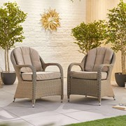 Leeanna Rattan Dining Chairs - Pair - Willow