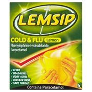 Lemsip Cold & Flu Lemon 5s (RB71882)