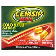 Lemsip Max Cold & Flu Caps 16s (RB72072)