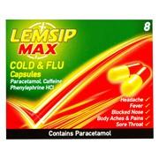 Lemsip Max Cold & Flu Capsules 8s (RB415027)
