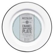 Ln Plate Enamelled White 20cm (LNENPLATE20)