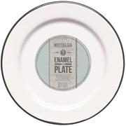 Ln Plate Enamelled White 24cm (LNENPLATE24)