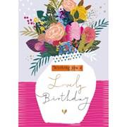 Lovely Birthday B/day Card (IJ0077W)