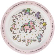 Little Stars Unicorn Plate (LP42494)