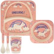 Bamboo Eco Eating Set Unicorn (LP42974)