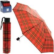 Red Tartan Folding Umbrella (LP45046)