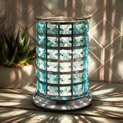Desire Aroma Lamp Silver & Teal (LP46013)