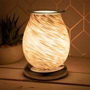 Aroma Lamp White & Gold Glitter (LP46027)