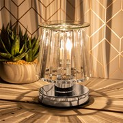 Aroma Lamp Silver Clear Crystal (LP46760)