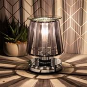 Aroma Lamp Silver Black Crystal (LP46761)