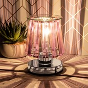 Aroma Lamp Silver Pink Crystal (LP46762)