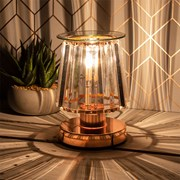 Aroma Lamp Rose Gold Clear Crystal (LP46763)