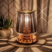 Aroma Lamp Rose Gold Black Crystal (LP46764)