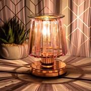 Aroma Lamp Rose Gold Pink Crystal (LP46765)