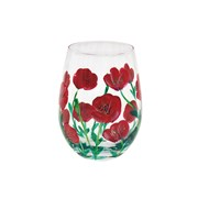Poppies Stemless Glass (LP47371)