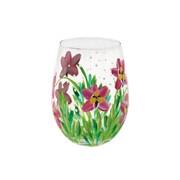 Pink Orchids Stemless Glass (LP47373)