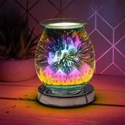 Silver Santa Sleigh Aroma Lamp (LP51884)