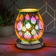 3d Silver Bauble Aroma Lamp (LP51885)
